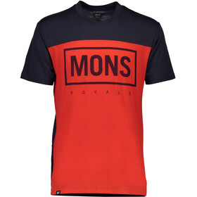 Mons Royale M's Redwood MR Box V-Neck T-Shirt Bright Red/9 Iron